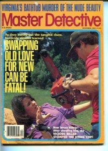 MASTER DETECTIVE-12/1983-VIRGINIA'S BATHTUB MURDER-VICIOUS KILLER STOMPS COP VG