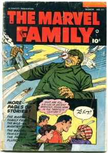 Marvel Family #81 1953-Chinese Commie cover-Captain Marvel Parade of Pleasure G-