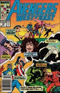Marvel AVENGERS WEST COAST #49 VF