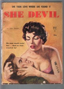 Uni Book #41 1952-She Devil-John Saxon-Good Girl art cover-G/VG