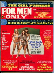 For Men Only 4/1973-Atlas-pulp thrills-Pollen & MInney art-spicy babes-VG