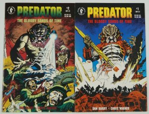 Predator: the Bloody Sands of Time #1-2 VF/NM complete series dark horse 1992