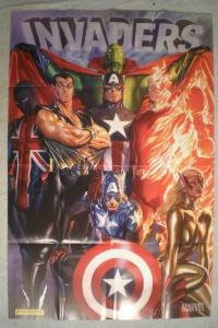 INVADERS Promo Poster, Captain America, 24x36, 2010, Unused, Human Torch