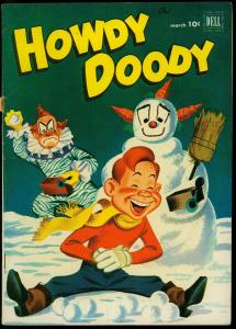 Howdy Doody Comics #15 1952- Dell Golden Age- Snowman / Clown cover FN
