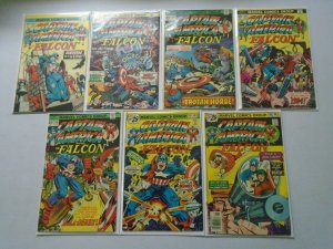 Captain America and The Falcon Comic Lot #183-211 19 Diff Avg 4.0 VG (1975-77)