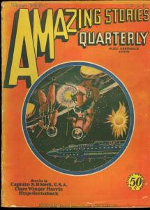 AMAZING STORIES QUARTERLY 1929 WINT-EARLY SCI-FI G/VG
