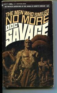 DOC SAVAGE-THE MEN WHO SMILED NO MORE-#45-ROBESON-VG- BAMA COVER VG