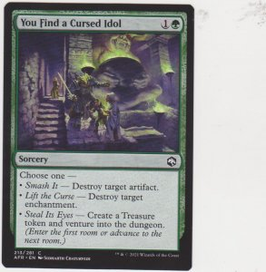 Magic the Gathering: Adventures in the Forgotten Realms - You Find a Cursed Idol
