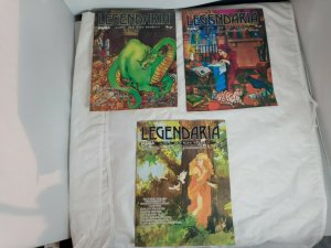 LOT OF 3 LEGENDARIA RPG D&D #3 4 5 ILLUSTRATED VARNA ADVENTURERS GUILD 1981