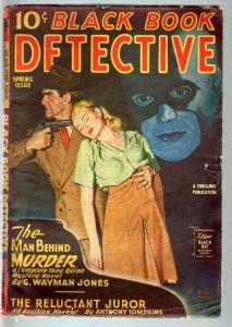 BLACK BOOK DETECTIVE 1946 SPR-BLACK BAT-PULP-HERO PULP-RARE VG