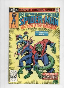 Peter Parker SPECTACULAR SPIDER-MAN 40 VF/NM, Lizard 1976 1980 more in store