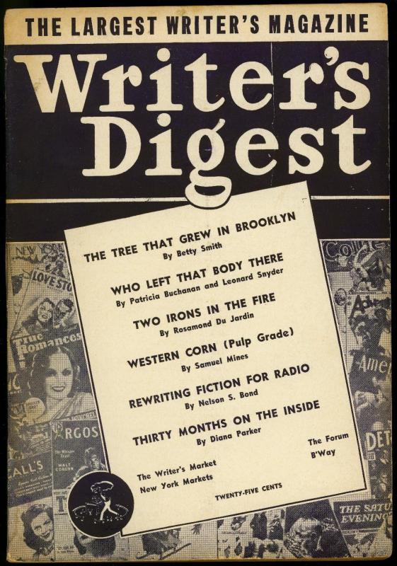 Writer's Digest June 1943- Western Pulps- Nelson S Bond VG
