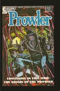 Eclipse Comics Prowler No 3 September 1987