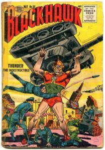 Blackhawk #88 1955- Quality comics- Thunder the Indestructible G-