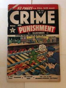 CRIME & PUNISHMENT (Lev Gleason) 35 VG (spine split,ls)  February 1951