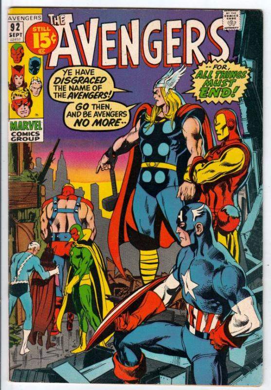 Avengers, The #92 (Sep-71) VF+ High-Grade Avengers