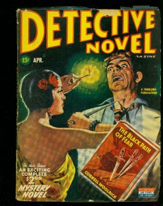 Detective Novel April 1945- Thrilling Pulp- Cornell Woolrich- Spicy cover