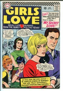 Girls' Love Stories #118 1966-DC-hard core romance stories-VG