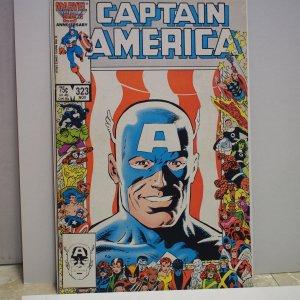 Captain America #323 (1986) Fine First Patriot!