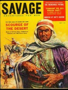 Savage Pulp Magazine May 1959- Arab cover - lynchings FN