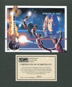John Lennon Commemorative Imagine Stamp Sheet   1996