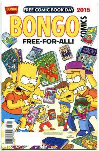 BONGO COMICS #1, NM, FCBD, Bart Simpson, Lisa, 2015,more Promo/items in store
