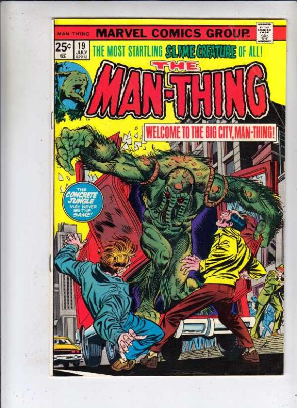 Man-Thing #19 (Aug-75) FN/VF Mid-High-Grade Man-Thing