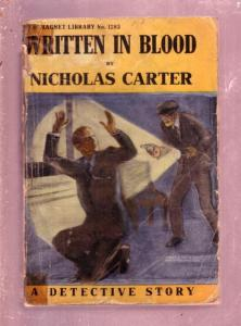NEW MAGNET LIBRARY-#1283-WRITTEN IN BLOOD-NICK CARTER FR