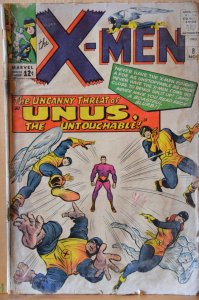The X-Men #8 (1964) Key Issue! Unas the Untouchable!!!