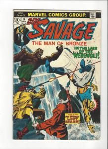 Doc Savage Man Of Bronze #8 VS The Werewolf VG