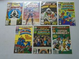 What If? lot of 7 different Captain America issues 8.0 VF