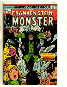 Monster Of Frankenstein # 12 VF/NM Marvel Comic Book Fear Scary Horror RS1
