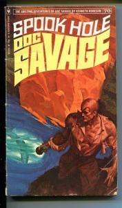 DOC SAVAGE-SPOOK HOLE-#70-ROBESON-VF-FRED PFEIFFER COVER-1ST EDITION G
