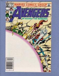 Avengers #233 FN/VF John Byrne Marvel 1983