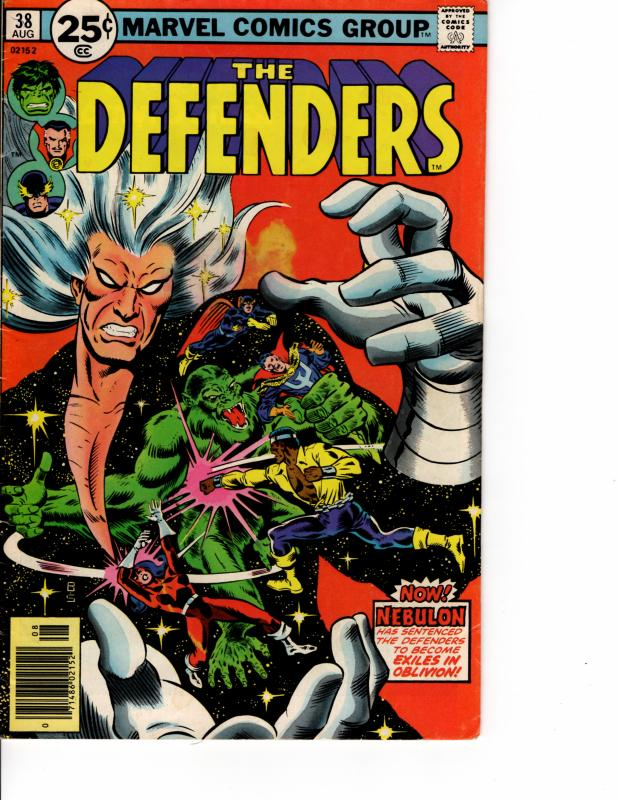 MARVEL The Defenders (1972 Series) #38 AUG 1976 VF-