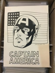 Mike Decarlo Original Captain America Commission 1982