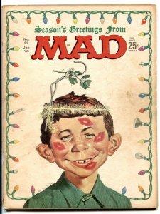 MAD Magazine #92 1965- mistletoe gag cover- G/VG