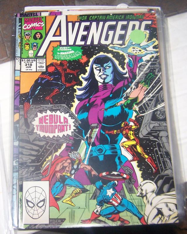 Avengers # 318 (JUN 1989 Marvel)   SPIDERMAN NEBULA SERSI STARFOX STRANGER