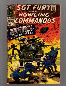 Sgt. Fury & His Howling Commandos # 40 FN- Marvel Comic Book Nick Avengers J450