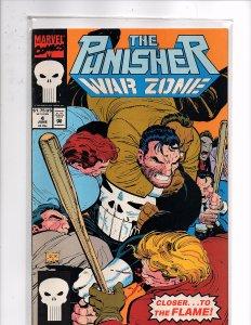 Marvel Comics Punisher War Zone #4 Chuck Dixon Story John Romita, Jr. Cover Art