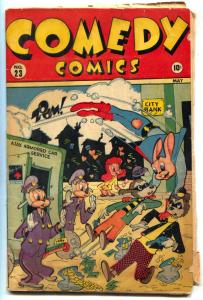 Comedy #23 1944- Timely Funny Animals- Super Rabbit incomplete