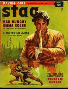 Stag Pulp Magazine December 1956- Robert Rogers- Mike Shayne- P/FR