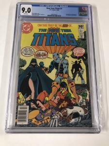 The New Teen Titans 2 Cgc 9.0 White Pages 1st Deathstroke Newsstand Edition Dc