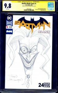 Batman #1 BLANK CGC SS 9.8 signed ORIGINAL JOKER SKETCH John Bolton NM/MT