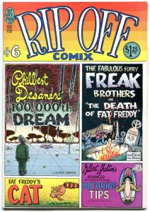 RIP OFF COMIX 6, VF,Underground, 1980, Shelton, Freak Brothers, more UG in store