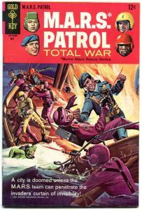 M.A.R.S. Patrol Total War #5 BATTLE COVER 1968 GOLD KEY VF