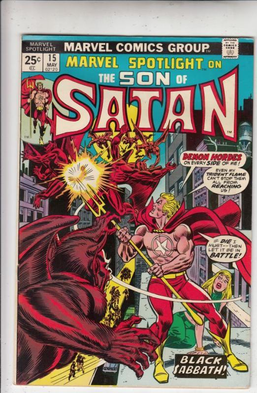 Marvel Spotlight on Son of Satan #15 (May-74) NM- High-Grade Son of Satan (Da...