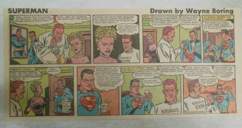 Superman Sunday Page #1179 by Wayne Boring from 5/20/1962 Size ~7.5 x 15 inches