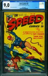 Speed #44 CGC 9.0 1947-Harvey-final issue-Capt Freedom-2002288002