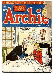 ARCHIE COMICS #30 comic book 1948 BETTY & VERONICA-AL FAGALY ART